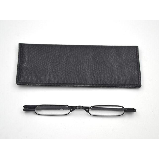 fc47411316e1 Ultralight Mini Folding Reading Glasses Women Men +1.0 to 4.0 Alloy  Portable Container Presbyopia Pen