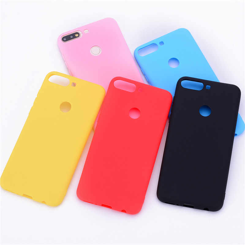 silicone case for huawei Y7 2018 case for huawei Y7 Prime 2018 case soft tpu cover for huawei Y 7 Y7 prime 2018 phone case shell