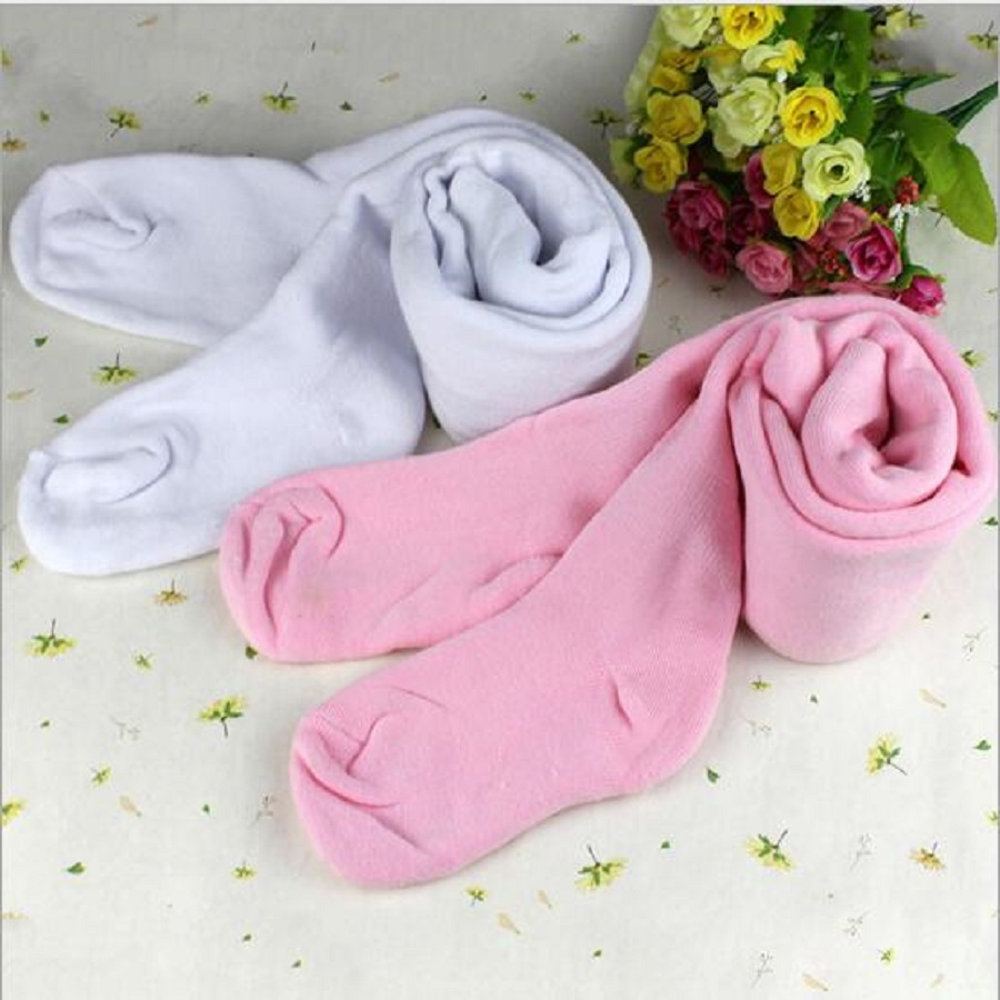 Free Shipping Winter Baby Girl Kids Toddler Ballet Dance Tights Woolen Pantyhose Solid Thickest Baby Dance Party Footed Tights