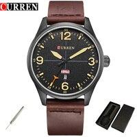 2017 Curren Men S Sports Quartz Watches Mens Business Watch Luxury Leather Date Week Wristwatches Relogio