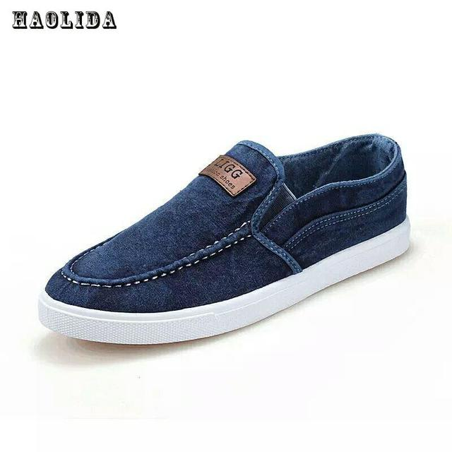 Mens Spring Autumn Fashion Casual Breathable Round Toe Slip On Flats Shoes