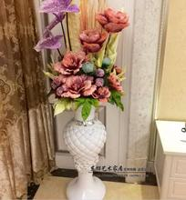Resin european-style large flower vase simulation of art set for decoration the living room model hotel decorative