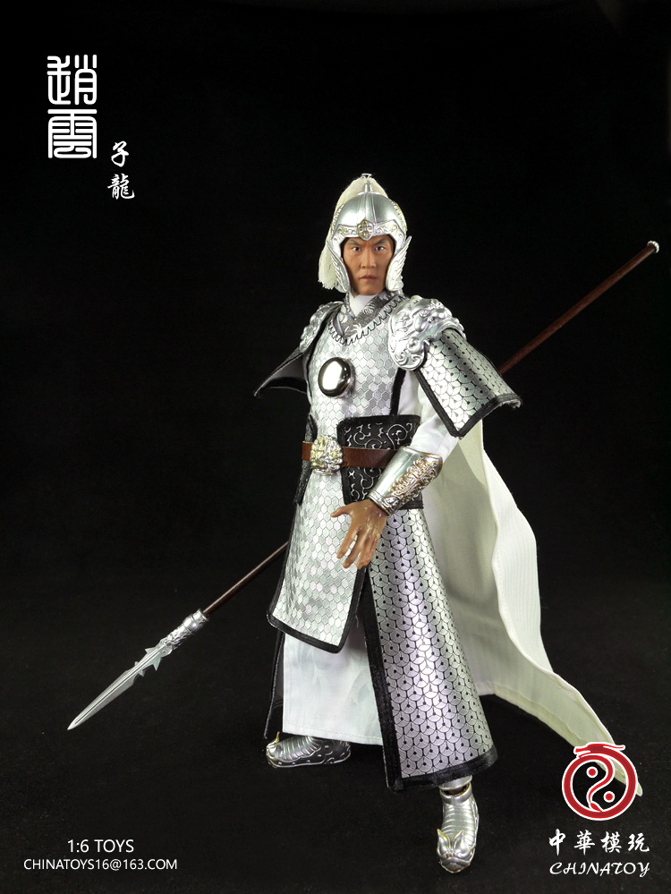 1 6 scale ancient weapon sword model with stand collection toy for 12 inches action figure 1/6th scale figure Ancient Chinese Zhao zilong Three Kingdoms Zhao yun 12 Action figure doll Collectible Model plastic toy