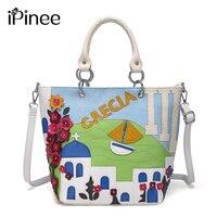 iPinee Brand Fashion Bucket Bag Women Handbag High Quality Ladies Messenger Bags Cross Body Bags With Flowers