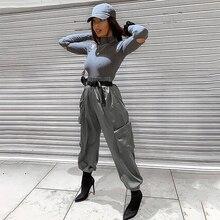 купить!  New Street Атлас Повседневные Комбинезоны Женские Брюки Harlan Pantalon Femme Брюки Бегуны Женщины