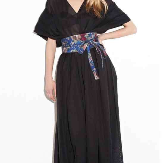 Wide Waist Belt Velvet Waistband Wrap Around Obi Band  Belt for Women