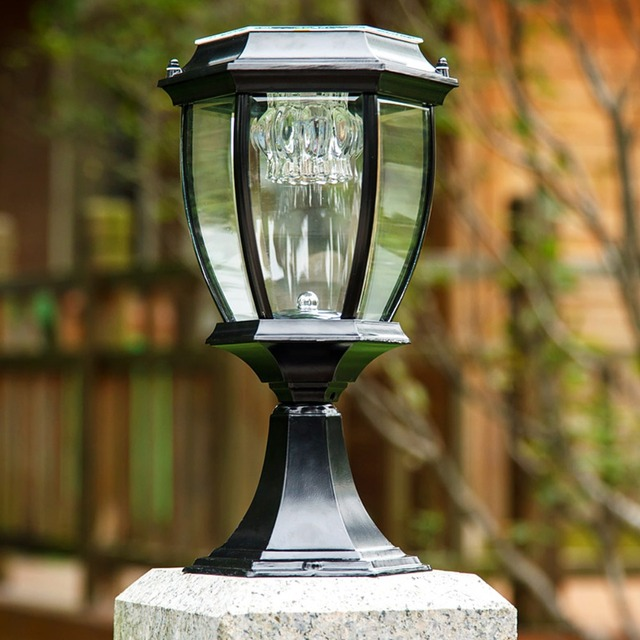 Solar Post Lamp fence wall lamp European outdoor villa garden lamp  Elegant solar outdoor post laterns