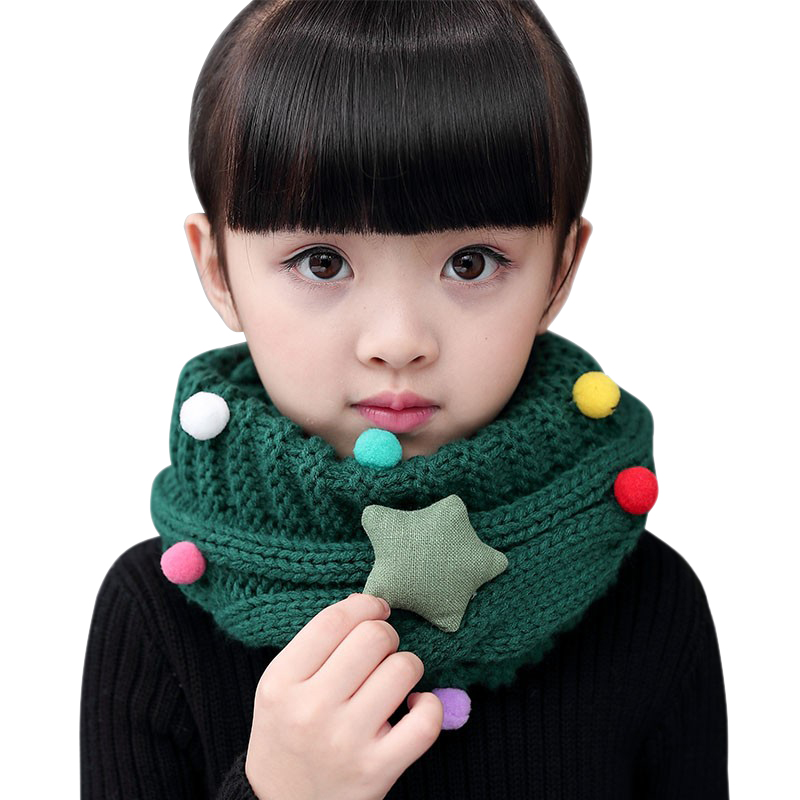 Winter Children Knitted Scarf Ring Girls Boys Circle Infinity Warm ...