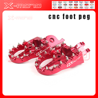 Red CNC Billet MX Foot Pegs Rests Pedals Footpegs For Honda crf450r crf 450 crf250r crf250x CR125/250 Motorcycle