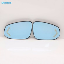 Blue Mirror Car Side View Mirrors Glare Proof Mirror LED Turn Signal Lamp Heated Rearview Mirror For Toyota RAV4 2013-2016
