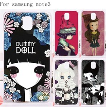 Tele Phone Cover For Samsung Galaxy Note III 3 Note3 Case Hard Plastic and Soft TPU High Quality Smournful Lady Print Shell