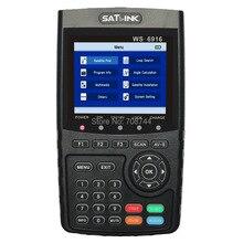 Satlink WS-6916 спутниковый искатель DVB-S2 MPEG-2/MPEG-4 Satlink WS6916 Высокое разрешение спутниковый Finder метр на тонкопленочных транзисторах на тонкоплёночных транзисторах ЖК-дисплей Экран