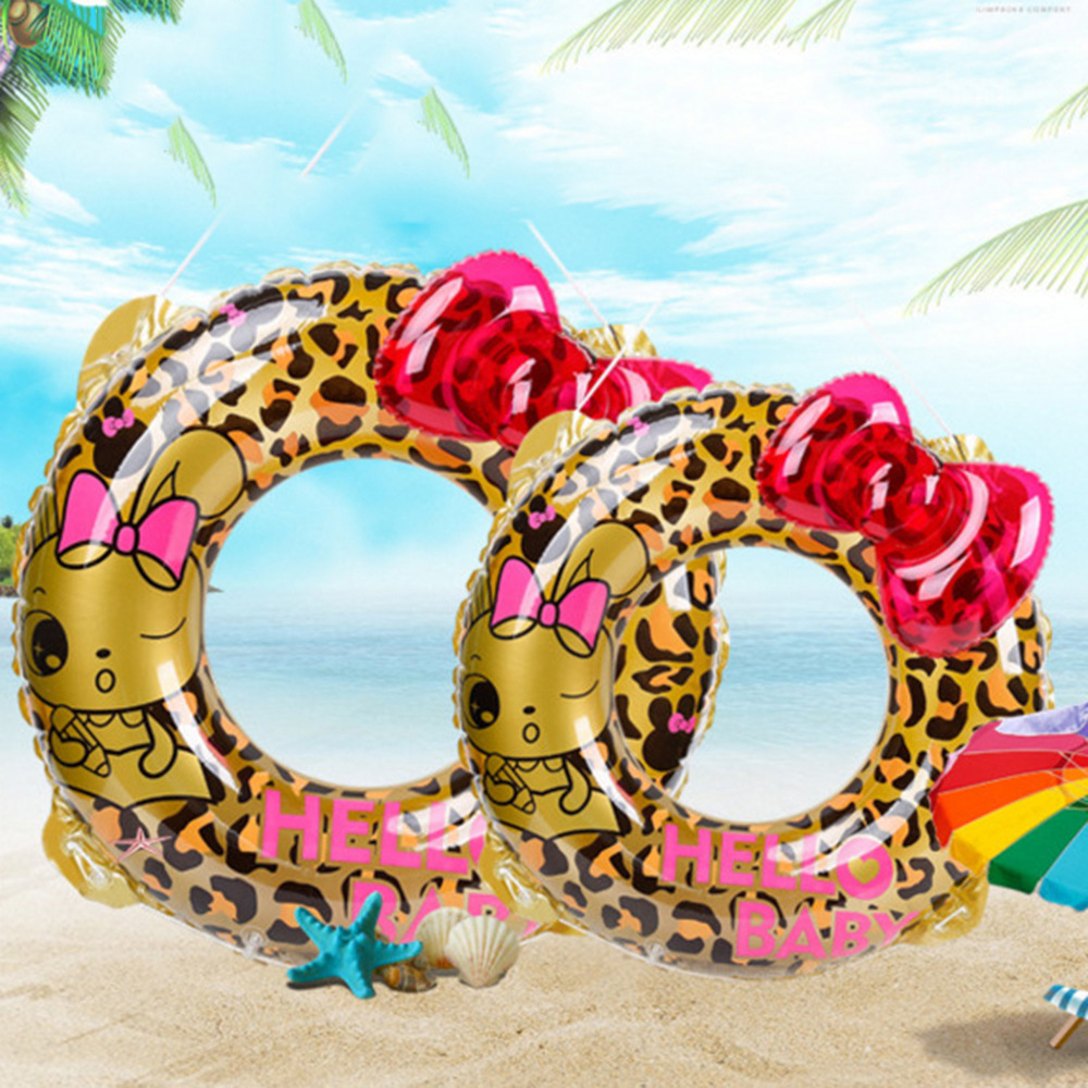 Inflatable Swimming Circle Air Mattress Leopard cute Float Seat Boat Tube Ring Rubber Swim Swimming Pool Toys Ring Portable