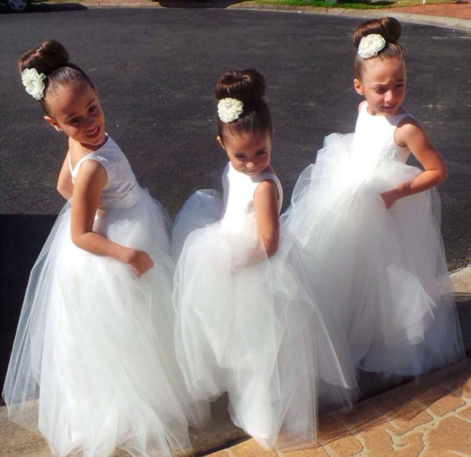 Long Kids Formal With Lace performance costumes Dresses Cute Little White Girls Pageant Tutu Dance Dress Ball Gowns For ParLong Kids Formal With Lace performance costumes Dresses Cute Little White Girls Pageant Tutu Dance Dress Ball Gowns For Par