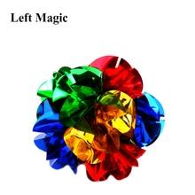 Мини Размер появляющийся шар цветок(диаметр: 14 см) Волшебные трюки весенний цветок букет магический реквизит крупным планом реквизит для уличной магии