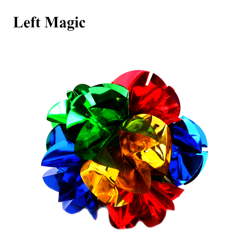 Mini Szie  Appearing Ball Flower (Diameter:14cm) Magic Tricks Spring Flower Bouquet Magic Props Close Up Street Magic Props