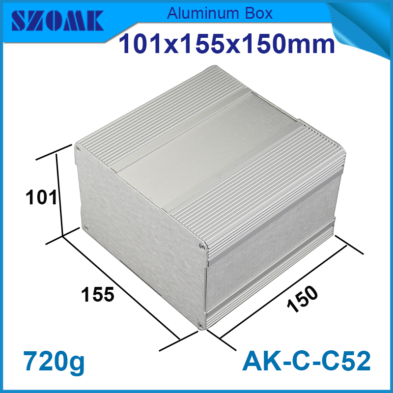 1piece 101(H)x155(W)x150(L) mm aluminium box case project box for Diy housing outlet box for electronics and circult board 215 52 263 mm w h l aluminum extruded enclosures housing project box case