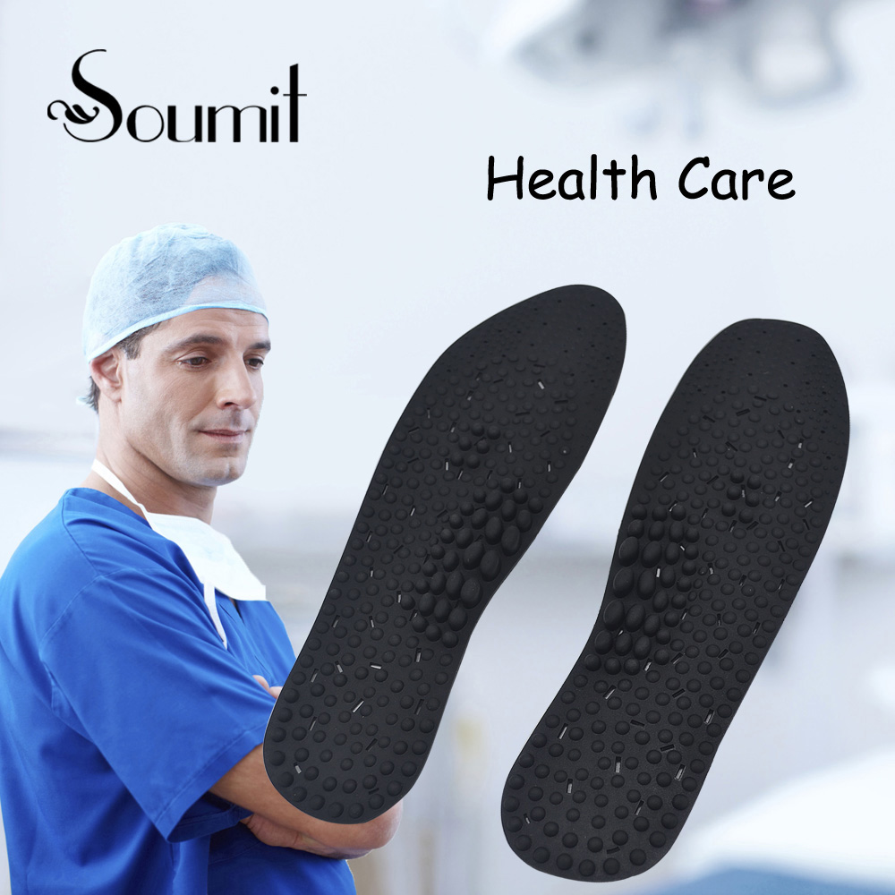 Soumit Silicone Comfortable Insole Foot Massage Insoles Inserts Therapy Health Care Shoes Pads for Men Women Pain Relief Insoles kotlikoff arch support insoles massage pads for shoes insole foot care shock women men shoes pad shoe inserts shoe accessories