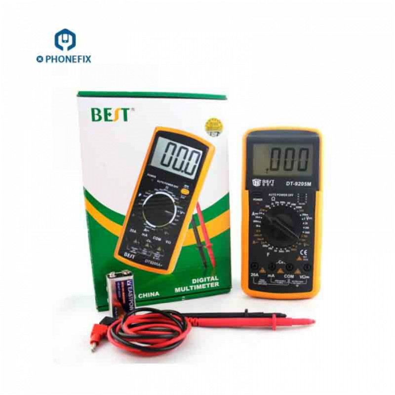 9205M Professional Handhold Digital Multimeter Cell Phone Diagnostic Tool With Buzzer Tester Meter For Phone Motherboard Repair