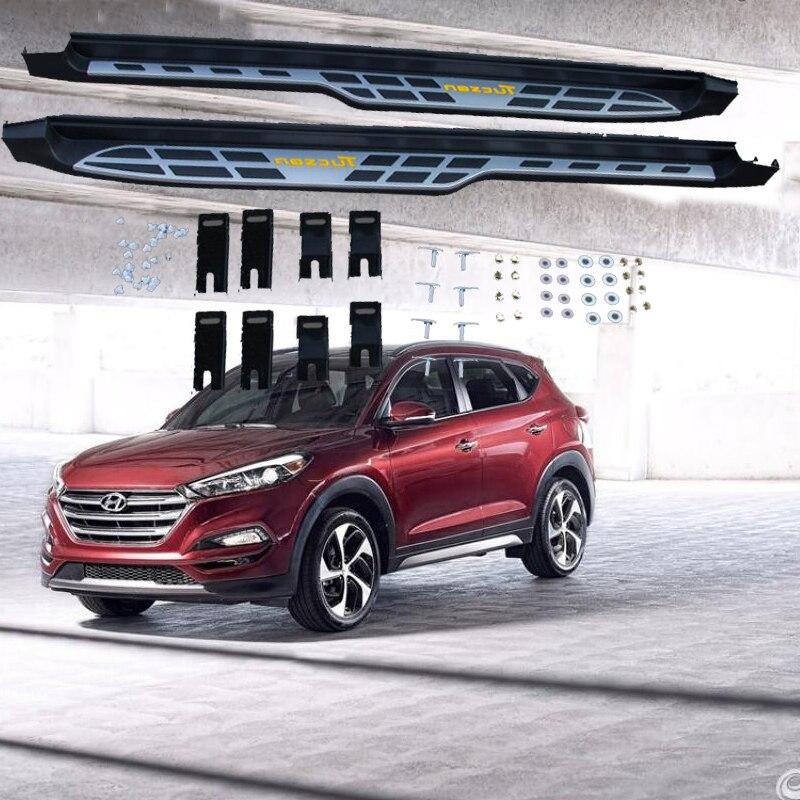 Pour Hyundai Tucson 2015.2016.2017 Voiture Marchepieds Auto Side Step Bar Pédales de Haute Qualité Marque Nouveau Design Original Nerf Bars