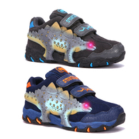 Dinoskulls Baby Boys Sneakers Light Up Kids Shoes 3D Dinosaur LED Sport Tennis Trainers 2019 Autumn Children's Running Shoes