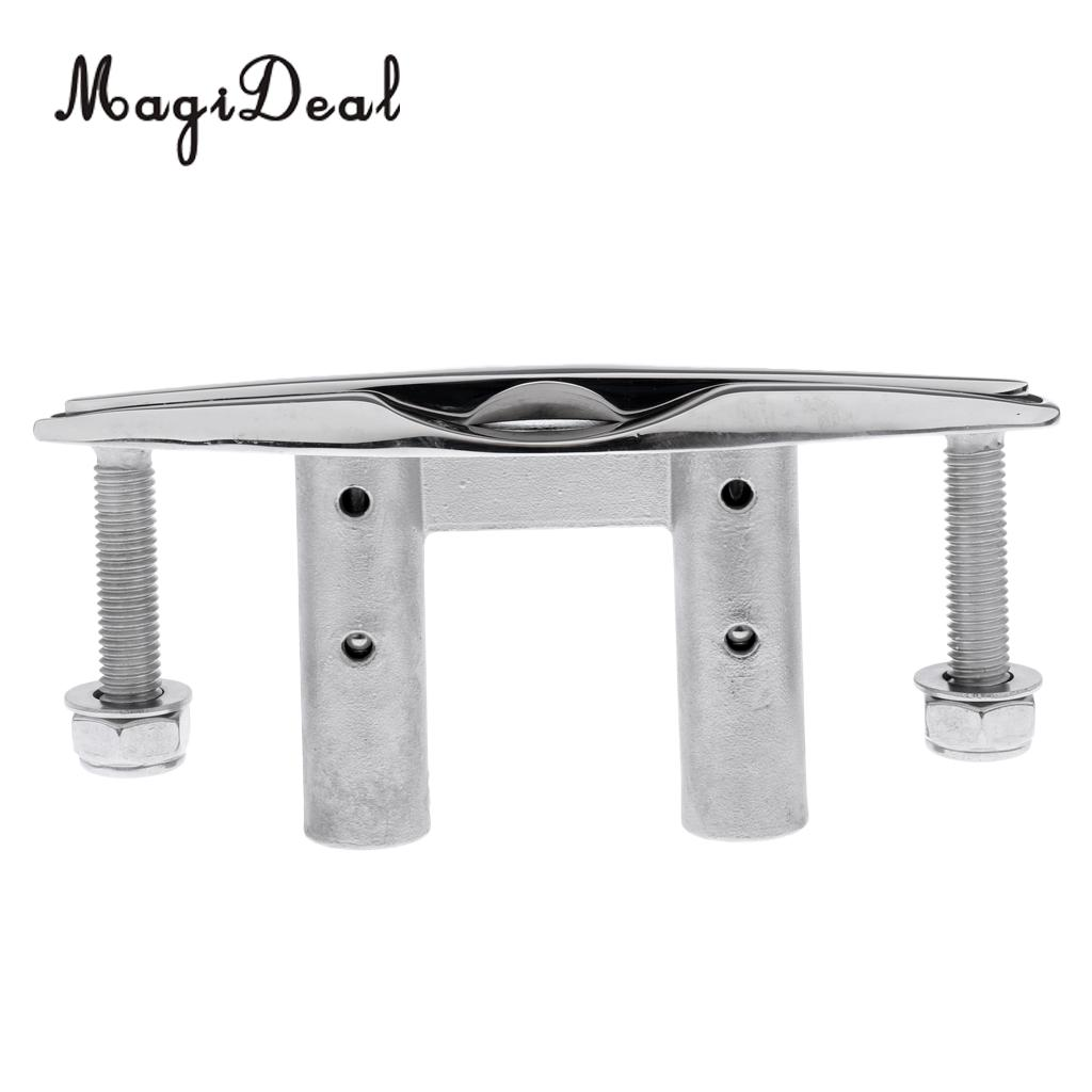 """Boat//Marine 6/"""" 155mm 316 STAINLESS STEEL PULL-UP CLEAT// POP-UP FLUSH MOUNT LIFT"""