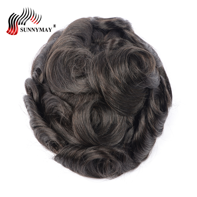 Sunnymay mens lace front hair wig mens toupee wig french lace with skin around . hair replacement,hair men toupee in stock