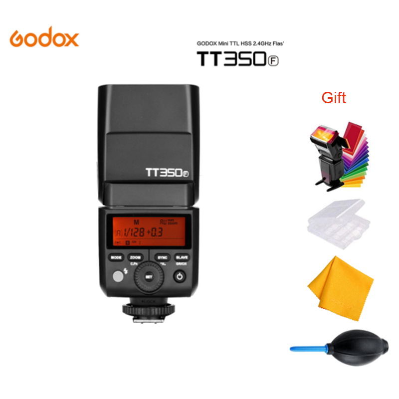 Godox TT350F Mini Speedlite TTL HSS GN36 High Speed 1/8000S 2.4G for Fujifilm Camera Flash for Fuji godox flash tt350f fuji ttl hss 2 4ghz 1 8000 s gn36 mini speedlite flash for fujifilm dslr camera free shipping