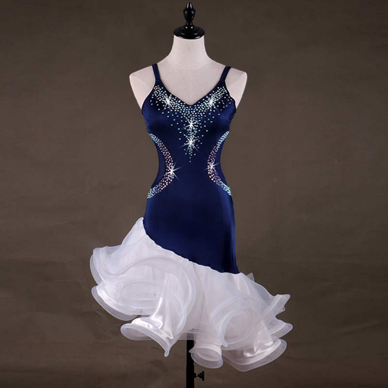 latin dance dress women girls salsa latin dress kids women latin dance competition dresses Customizable girl size