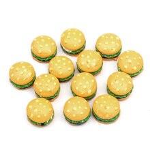 Crafts Buttons Flatback Cabochon Bread-Resin-Decoration Yellow Kawaii Bead Scrapbook