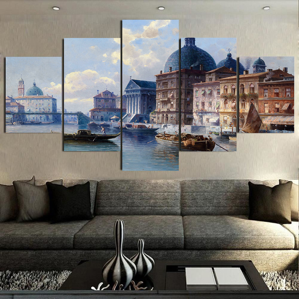Venice Diy Painting Abstract Poster Vintage Towns Home Decor Wall Oil Paint Art Paintings By Numbers with Acrylic Paints Poster in Painting Calligraphy from Home Garden