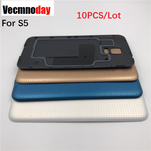 Vecmnoday 10PCS For Samsung Galaxy S5 Back Cover Case Battery Rear Door i9600 G900 G900F G900M G900H SM-G900F Replacement Parts