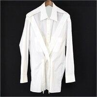 2018 Yohji shirting yohji back show yohji yamamoto yoshi custom pure cotton S 6XL! Big yards men's clothing
