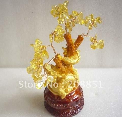 Красивые цитрин кристалл кварца Рождественская елка