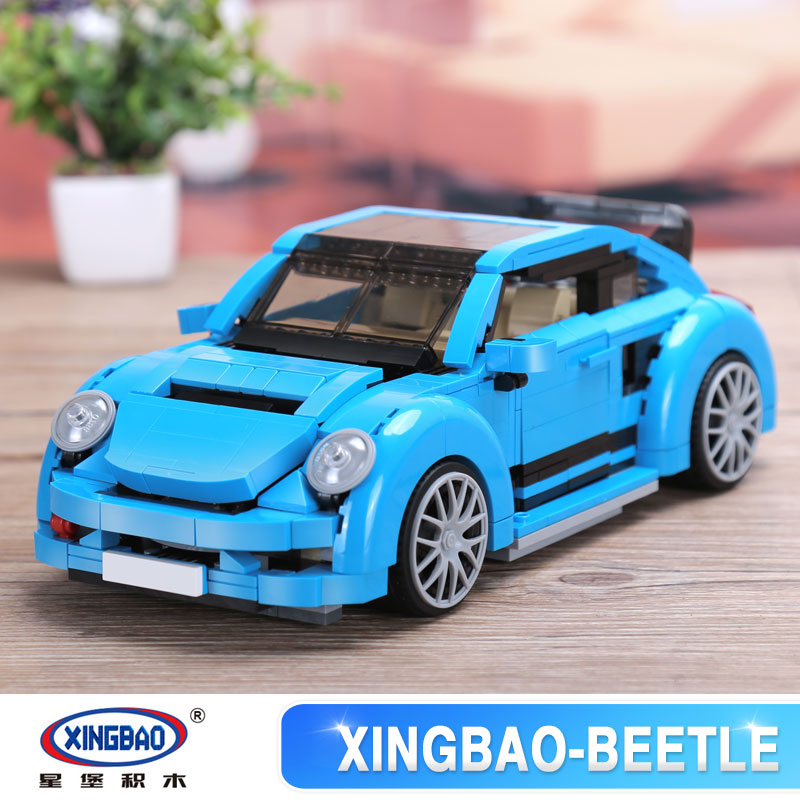 Xingbao 03015 Genuine Creative MOC Technic Series The Beetle Car Set Children Educational Building Blocks Bricks legoinglys Toys xingbao 06009 military series the extreme snowmobiling sets legoinglys building nano blocks bricks toys for children kids