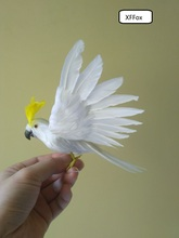 small cute real life white parrot model foam&feather simulation wings cockatoo bird gift about 20x28cm xf0254