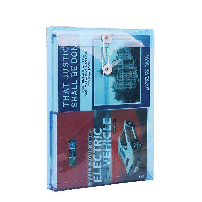 1 шт. модная офисная папка формата А4, сумка с застежкой на кнопках, прозрачная пластиковая папка для файлов, канцелярские принадлежности для офиса