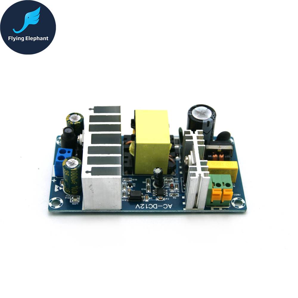 Pukido Power Supply Module AC85-265V To DC24V 4A Switching Power Supply Board Plug Type: 24V4A