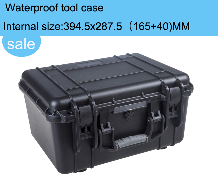 high quality Tool case toolbox waterproof equipment case Impact camera case plastic shipping suitcase with pre-cut foam lining