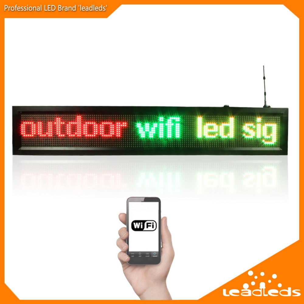 1.36m Outdoor P10mm Wifi Remote Control Led Display Can Scrolling Programmable Message Led Sign Board For Business And Store