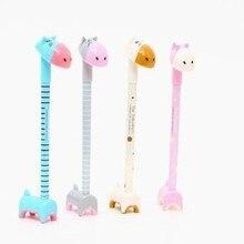 40 Pcs Stationery Super Cute Donkey Giraffe  Hippopotamus  Animal Pen Shape Can Stand Ballpoint Pen  Stationery Students Present