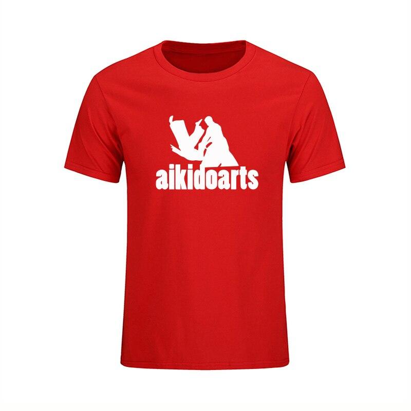 Estilo japonés Aikido Arts T Shirts Hombres 2018 Nueva Moda de manga - Ropa de hombre