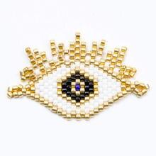 Shinus 10Pcs/lot Delica Miyuki Evil Eye Bracelet DIY Accessories Turkish Lucky Pulseras Handmade Woven 2019 Women Gift
