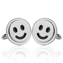 Cufflinks Shirt Button Business-Cuff Smiling Novelty Wedding Fashion French 1-Pair Face