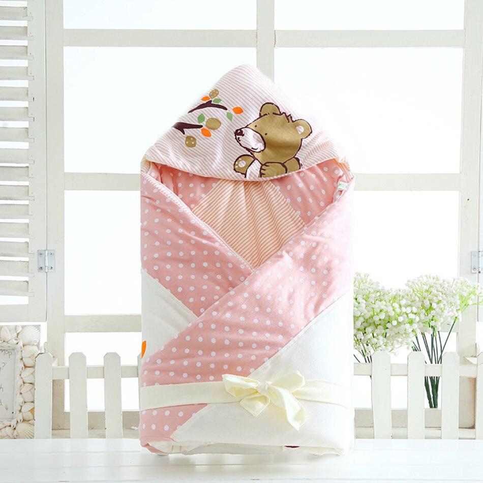 100 100cm Baby Oversized Sleeping Bags Winter Envelope Blanket For Newborn Cocoon Wrap Sleepsack Cotton Baby