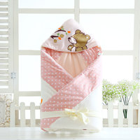 100*100cm Baby Oversized Sleeping Bags Winter Envelope Blanket For Newborn Cocoon Wrap Sleepsack Cotton Baby Bedding & Swaddling