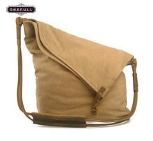 Women Canvas Messenger Bag Leather Vintage Shoulder
