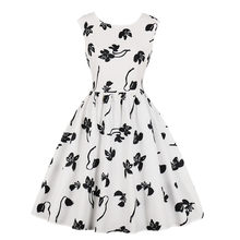 Fashion Women Clothes Vestidos Verano 2019 Flower Print Casual Office Elegant Dress Evening Party Sexy Retro Dresses(China)