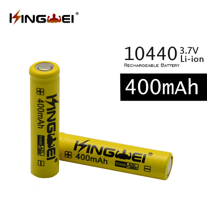 4 Pcs KingWei 10440 <font><b>3.7v</b></font> <font><b>400mAh</b></font> Li-ion Rechargeable <font><b>Battery</b></font> image