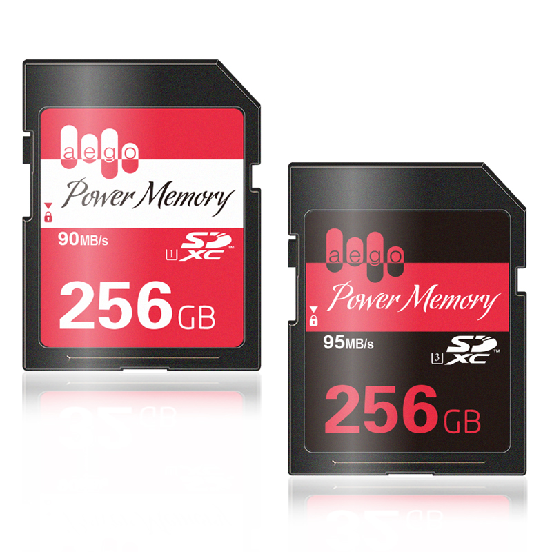 AEGO SD Card 256GB UHS-1 Real Capacity  Memory Card High Speed Memory SD Card 256GB U3 For Camera MP3 And More original sd memory card cover for nikon d7100 d7200 camera replacement unit repair part